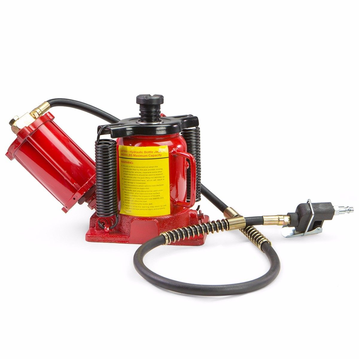 Stark Hydraulic 20 Ton Air Bottle Air-Operated Bottle Jack Lift Portable Low Profile Manual Jack Air Jack with Handle