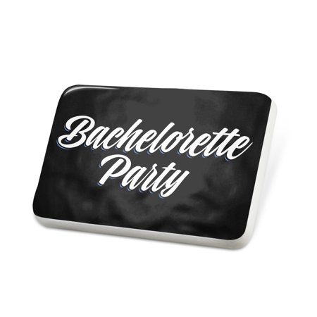 Porcelein Pin Classic design Bachelorette Party Lapel Badge – NEONBLOND - Bachelorette Pins