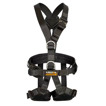 Fall Arrest Rope - Fusion Climb Tac-Scape Lite Full Body Tactical Padded Y Style Fall Arrest Harness Black Size L
