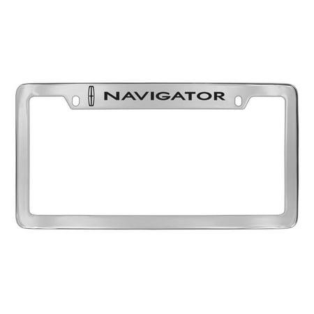 (Lincoln Navigator Chrome Plated Metal License Plate Frame Holder)
