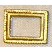 Dollhouse Matchbox, Rect Picture Frame, Gold Color