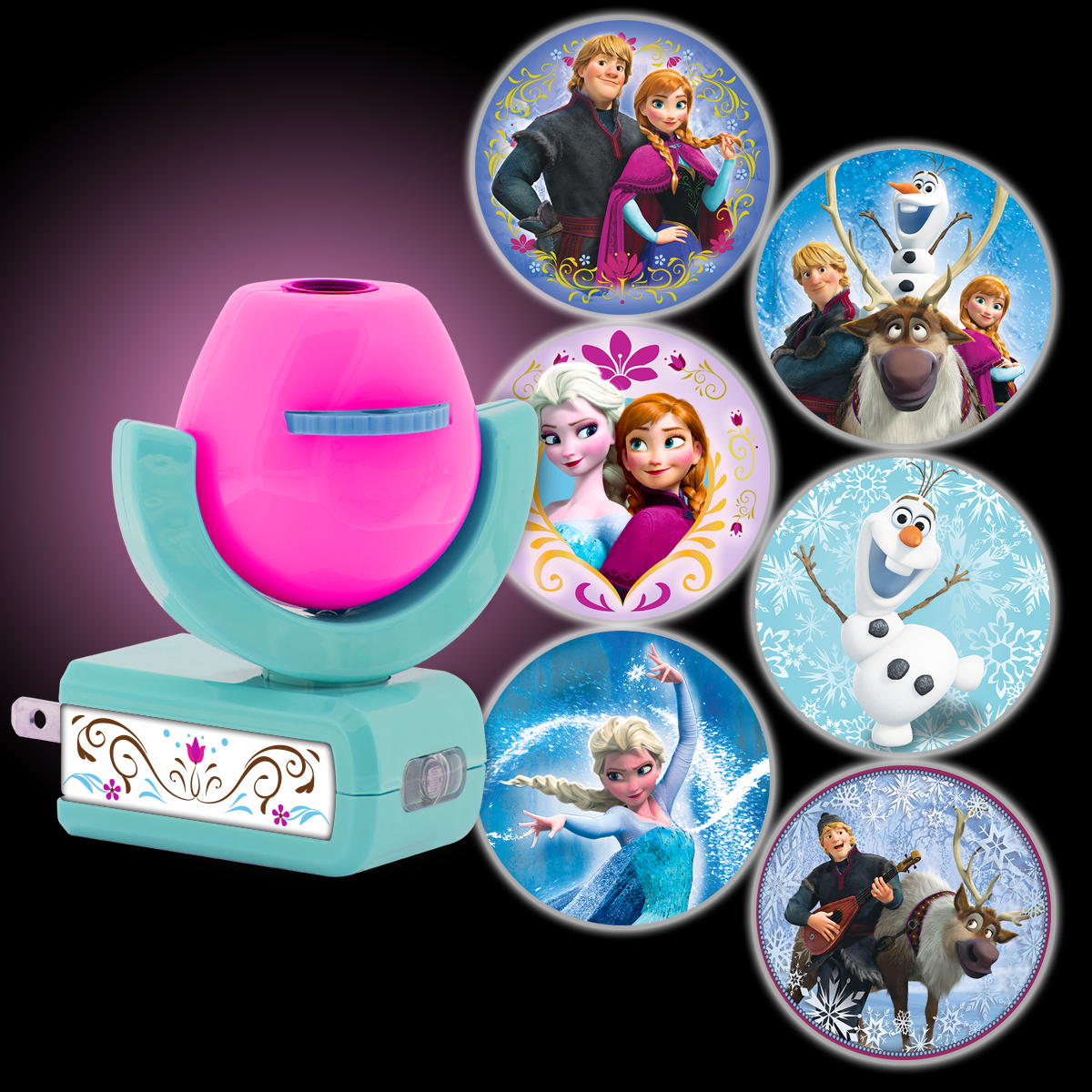 Projectables Disney Frozen 6-Image LED Plug-In Night Light, Light Sensing, 25282