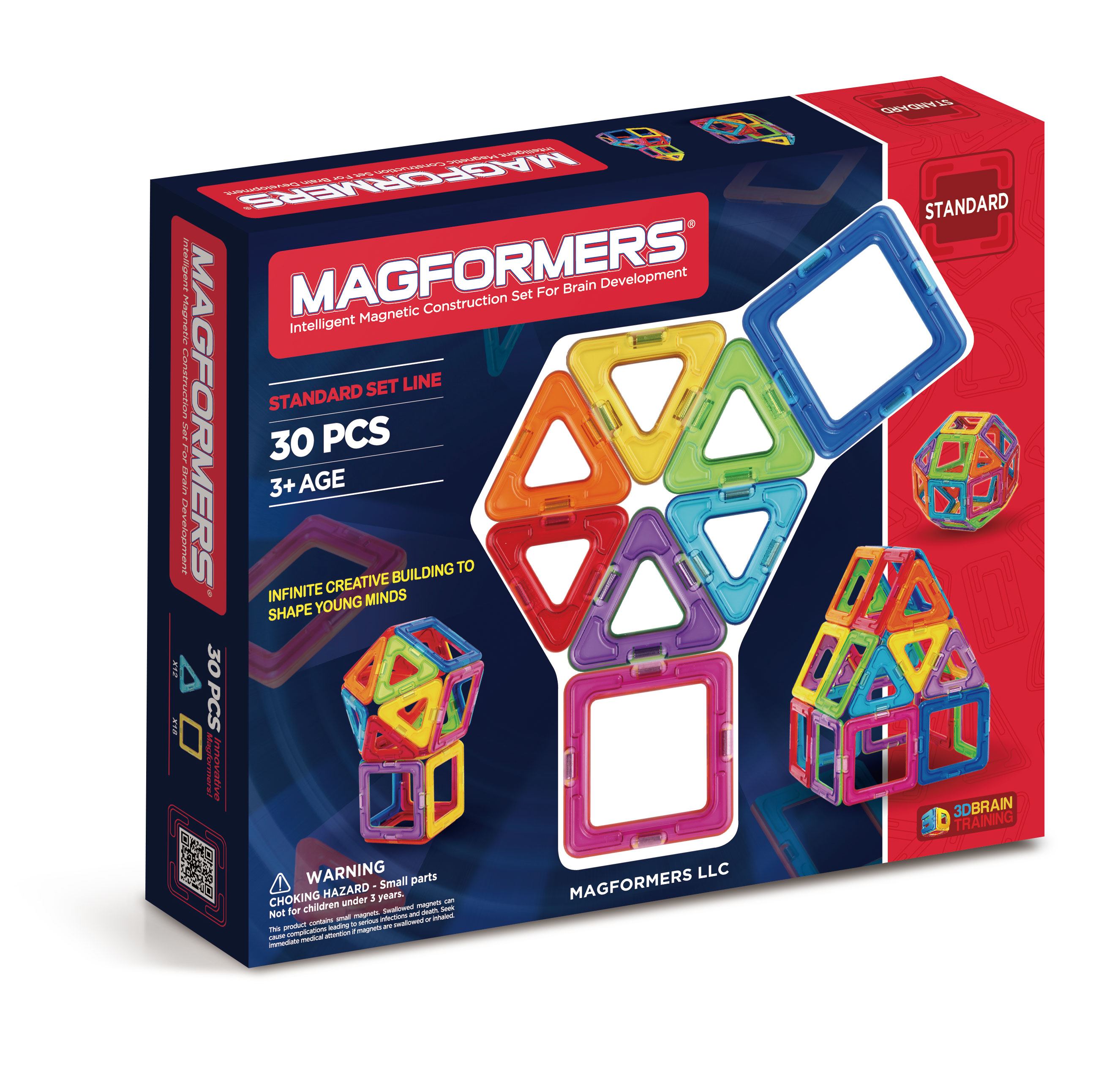 Magformers Rainbow 30pc Magnetic Play Set