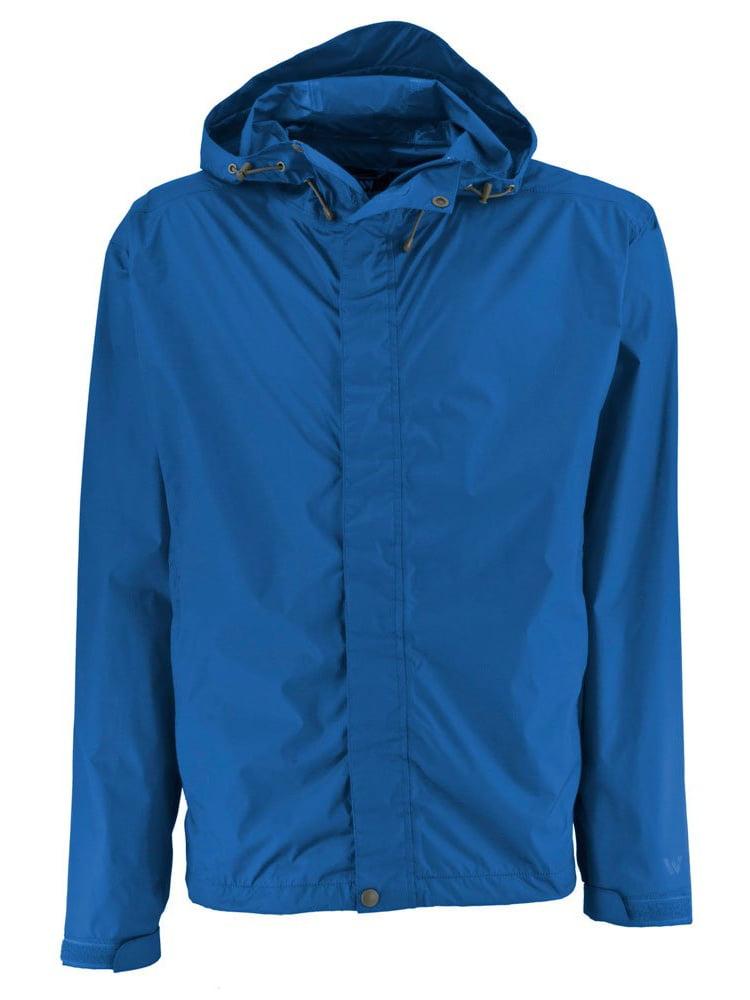 White Sierra Men's Trabagon Rain Shell Jacket by Amtai Imports Inc