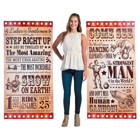 Party Standups (Fun Express - Vintage Circus Stand Up Signs for Party - Party Decor - Large Decor - Floor Stand Ups - Party - 2)