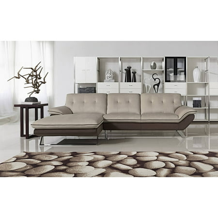 Bella Contemporary Fabric Upholstered 2 Pc Sectional Sofa
