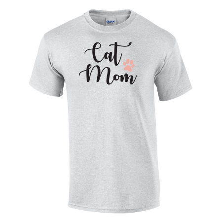 Cat Mom Printed Tee (Cat Bin Woman)