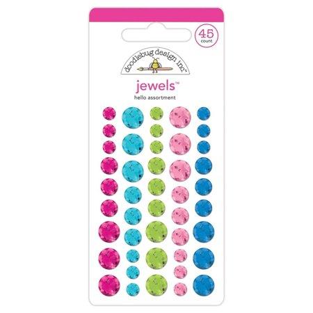 Doodlebug Sprinkles Jewels Adhesive Hello Collection By Doodlebug Design - Jewels By Design