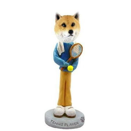 NO.DOOG9626 Shiba Inu Tennis Player Doogie Collectable Figurine ()