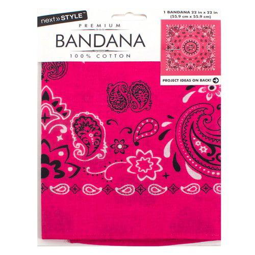 Next Style Pink Paisley Bandana