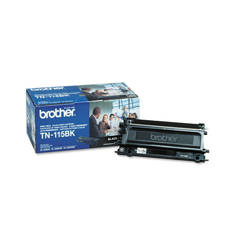 Brother TN115BK High-Yield Toner, 5000 Page-Yield, Black -BRTTN115BK Color Laser Copier Black Toner