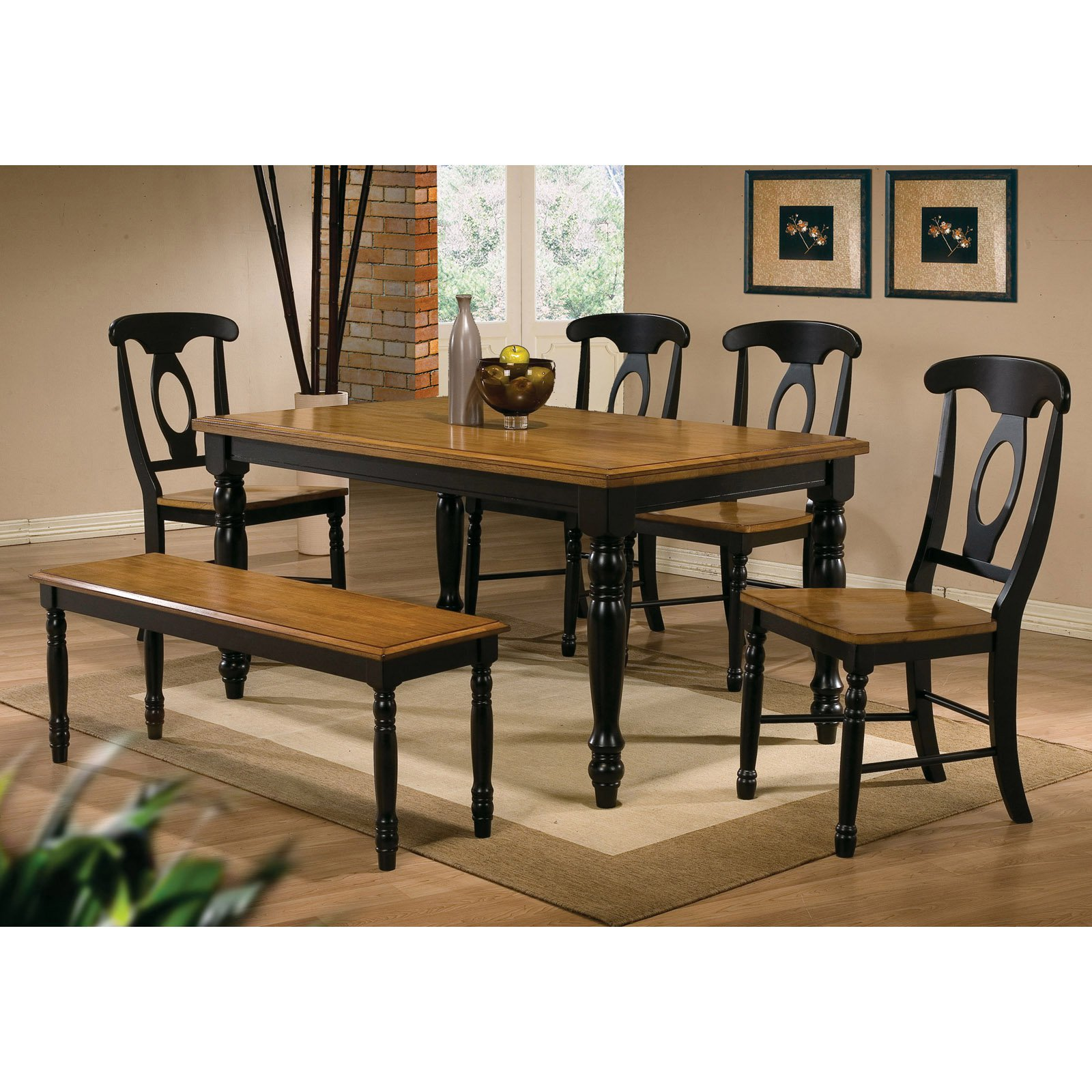 Winners Only Quails Run 6 Piece Rectangular Dining Table Set With Napoleon  Chairs   Walmart.com