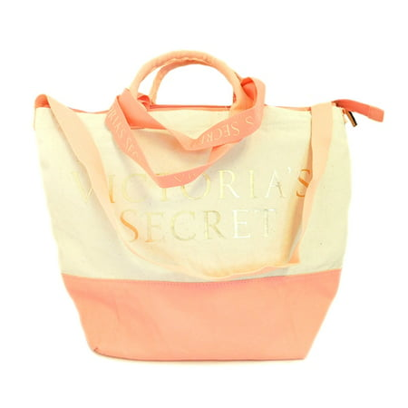 Victoria's Secret Canvas and Pink Insulated Cooler Tote Bag with Zipper ()