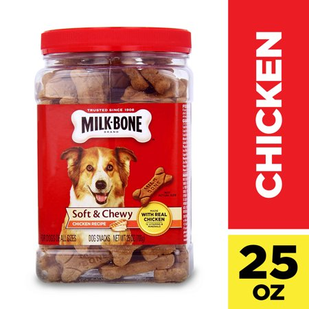 Milk-Bone Soft & Chewy Chicken Recipe Dog Snacks, 25 Oz. Flavored Chewy Dog Treats