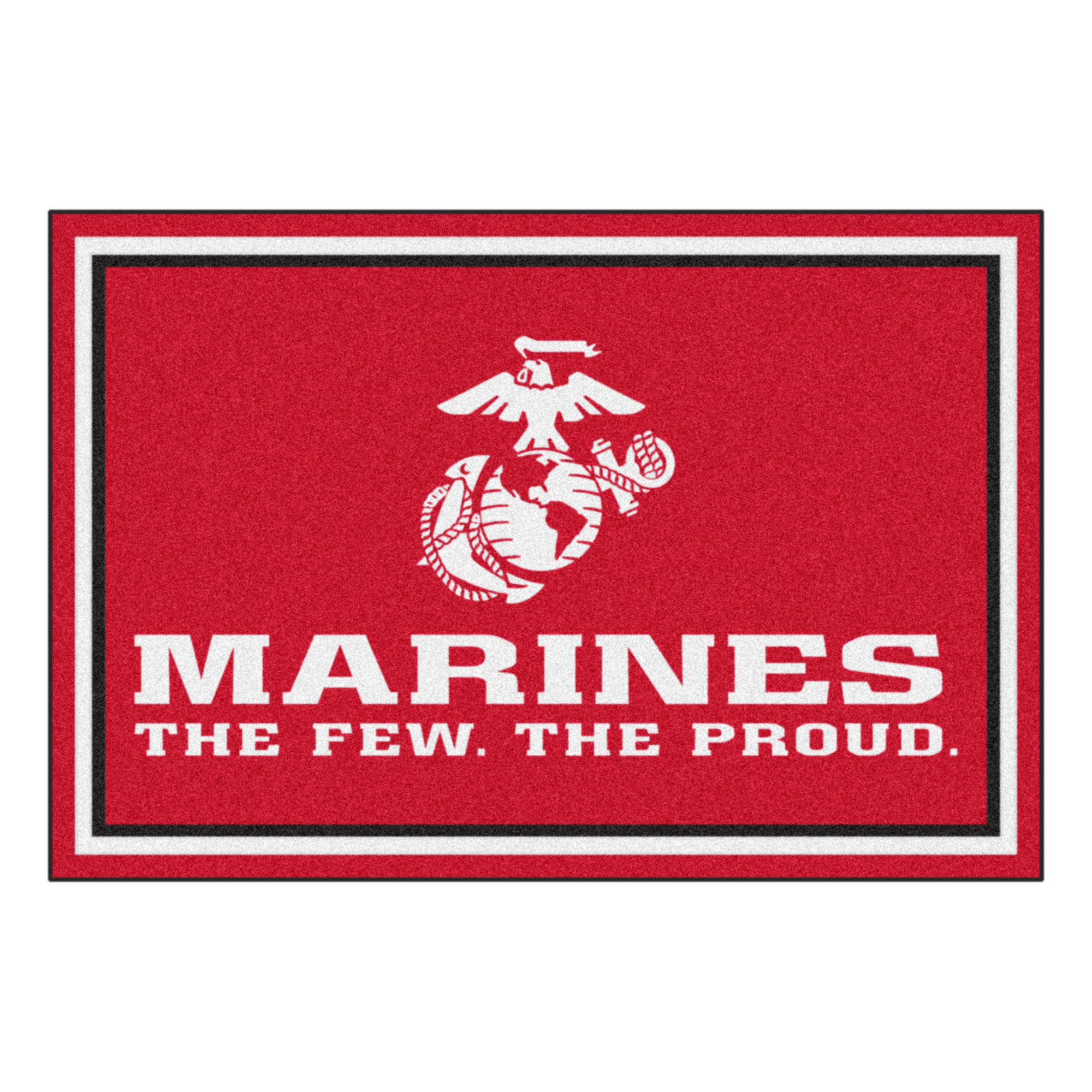 U.S. Marines 5 x 8 Foot Plush Non-Skid Area Rug