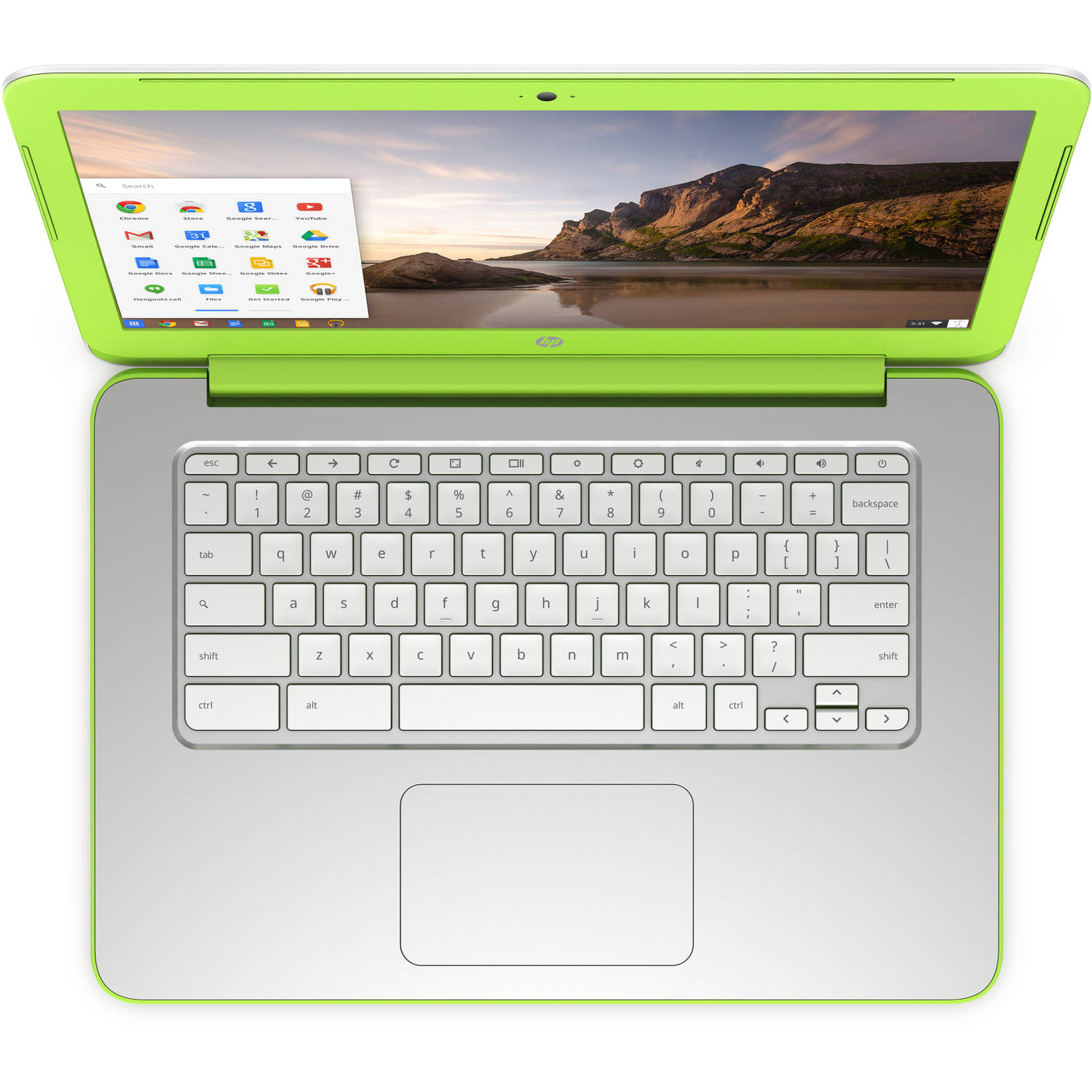 "Refurbished HP White/Green 14"" 14-x015wm Chromebook PC with NVIDIA Tegra K1 Mobile Processor, 2GB Memory, 16GB eMMC and Chrome OS"