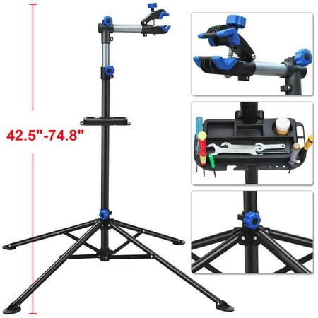 "Yaheetech Pro Bike Adjustable 42.5-74.8"" Repair Stand w/Telescopic Arm Bicycle Rack"