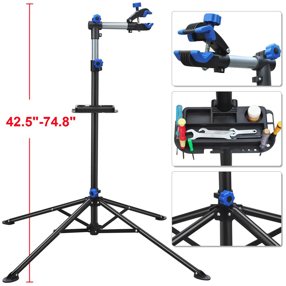 "Yaheetech Pro Bike Adjustable 42.5-74.8"" Repair Stand w/Telescopic Arm Bicycle Rack"
