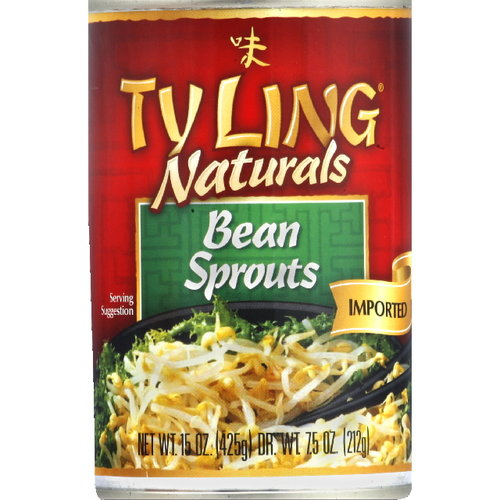 Ty Ling Bean Sprouts, 15 oz (Pack of 12)
