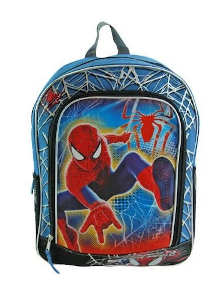 """Marvel Spider-man 16"""" Boys' Canvas Backpack w  Adjustable Shoulder Straps by"""