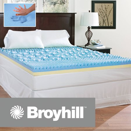 "Broyhill Comfort Temp 4"" Gel Memory Foam Mattress Topper, Multiple Sizes"
