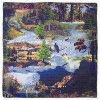 """Wilderness Galore 3 piece set, Quilt Queen-92""""x88"""", 2-Standard Pillow Shams"""