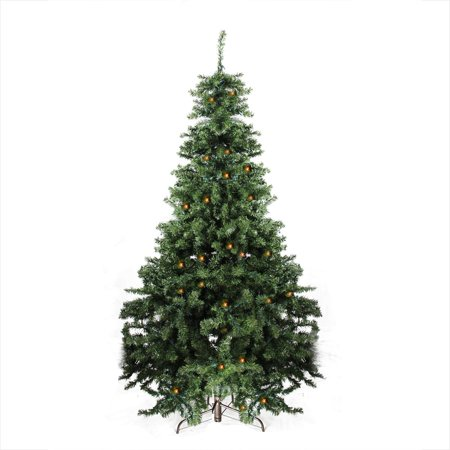 7 Pre Lit Canadian Pine Artificial Christmas Tree Candlelight Led Lights