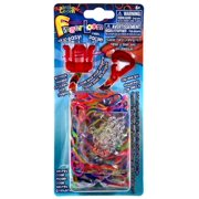 Rainbow Loom Finger Loom Red Rubber Band Crafting Kit, 1 Each