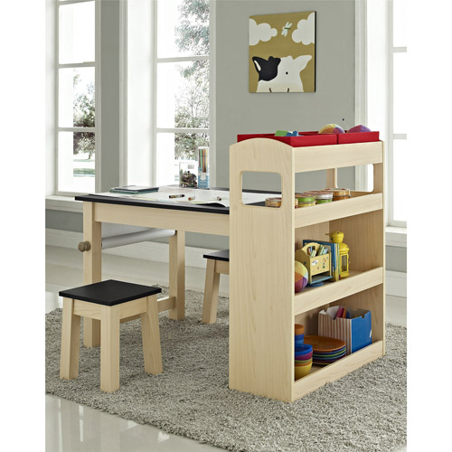 Altra Furniture Kids Activity Table And Stool Set Maple