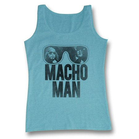 WWE World Wrestling Entertainment Old School Macho Man Glasses Adult Tank Top - Male Adult Store
