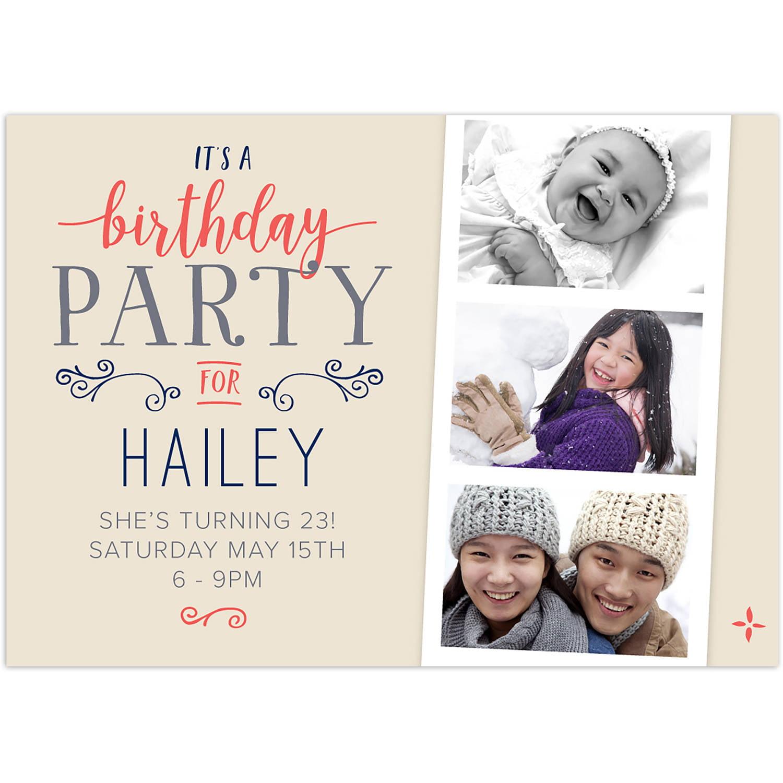 Cheerful Party Birthday General Invitation