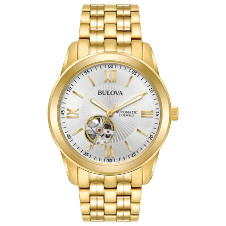 Bulova Men's Gold-Tone Stainless Steel Automatic Watch Automatic Watch Stainless Steel Band