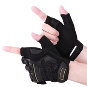 LYUMO 1 Pair Motorcycle Motocross Cycling Racing Riding Half Finger Protective Gloves, Half Finger Gloves,Gloves