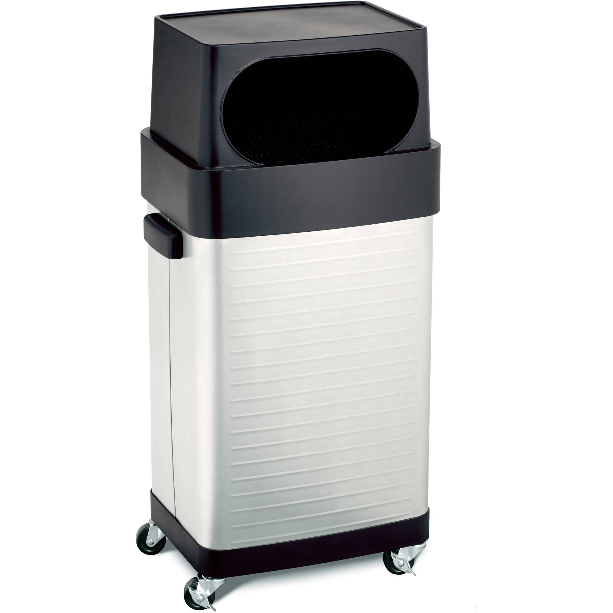 Seville Classics UltraHD 17-Gallon Commercial Stainless Steel Trash Bin