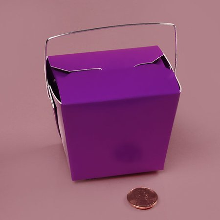 Purple Small 2-3/4 x 2 x 2-1/2 inches Colored Paper Chinese Take Out Food Favor Boxes, 24 (Colors In A 24 Pack Of Colored Pencils)