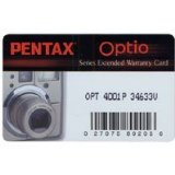 Pentax 2 Year Extended Warranty f/ Optio Series Digital Cameras