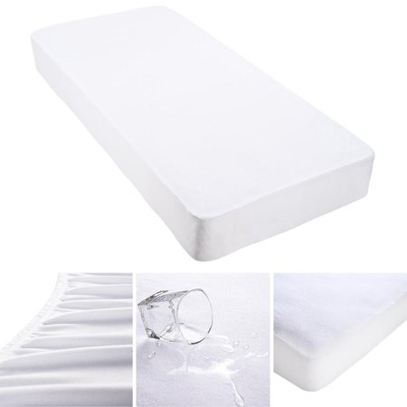 Yescom Cotton Terry Mattress Protector Waterproof Hypoallergenic Vinyl Free Anti Mite Dust Fitted Cover Queen
