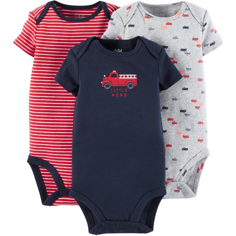 Child Of Mine By Carter's Newborn Baby Boy Bodysuit, 3 Pack