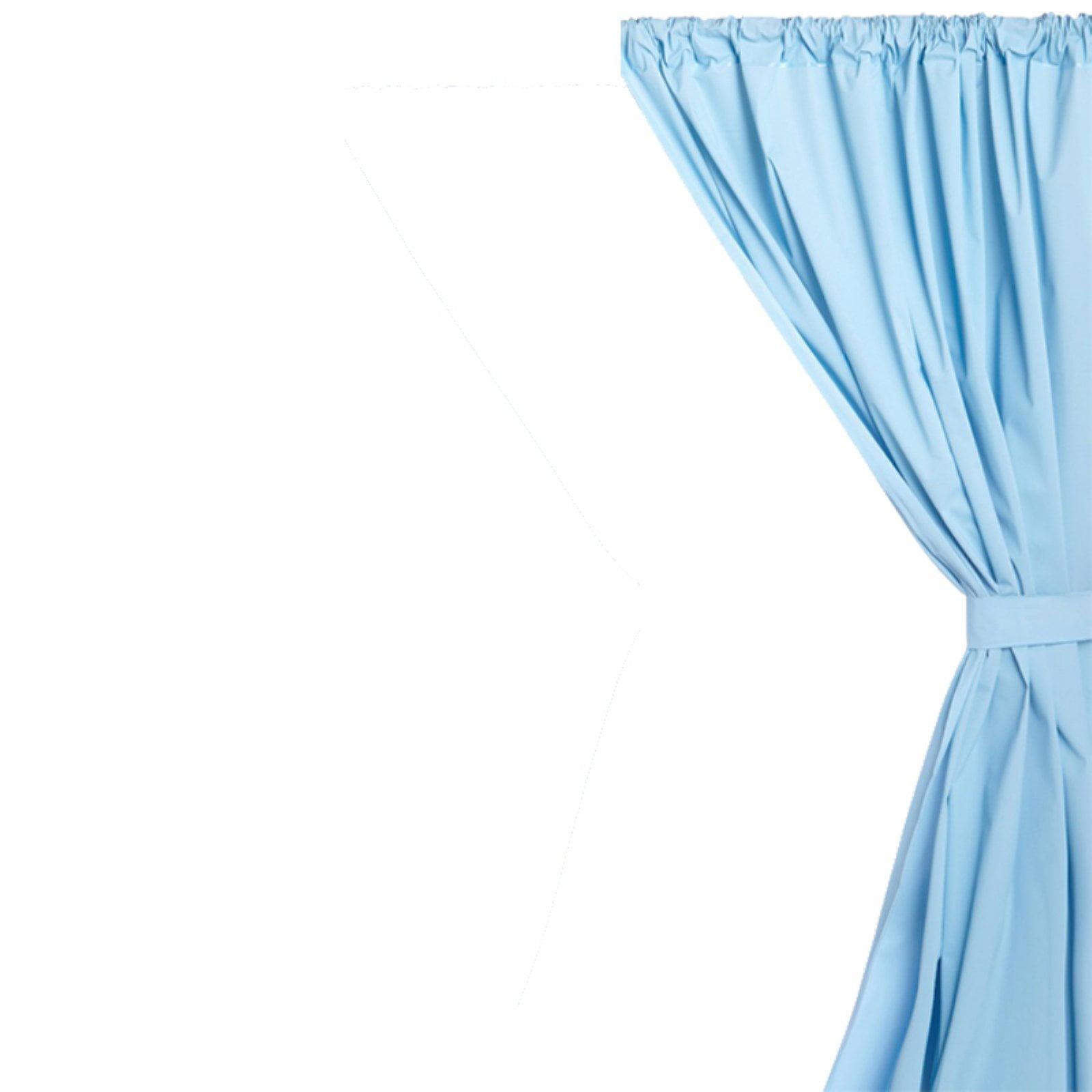 Vinyl Window Curtain In Light Blue