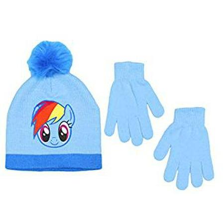 Beanie Cap - My Little Pony - Rainbow Dash Blue Set w/Glove
