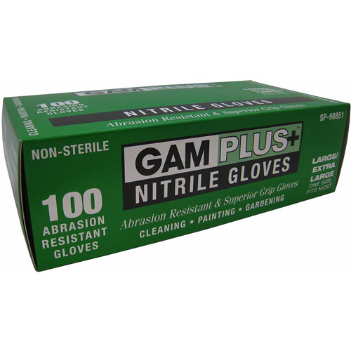Great American Marketing Large/Extra-Large Nitrile Gloves, 100pk