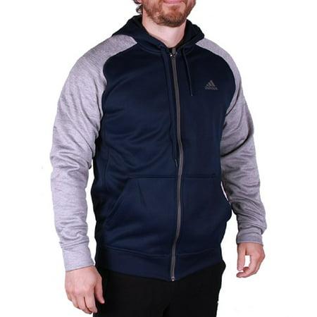Adidas Mens Tech Fleece Hooded Training Sweatshirt (M, Navy/Grey) Adidas Big Game Fleece