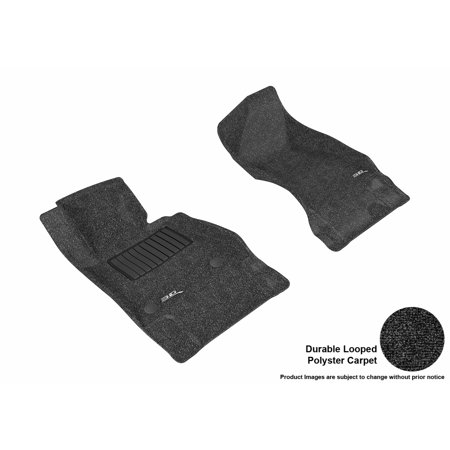 Chevrolet Camaro - 3D MAXpider 2016-2017 Chevrolet Camaro Front Row All Weather Floor Liners in Black Carpet