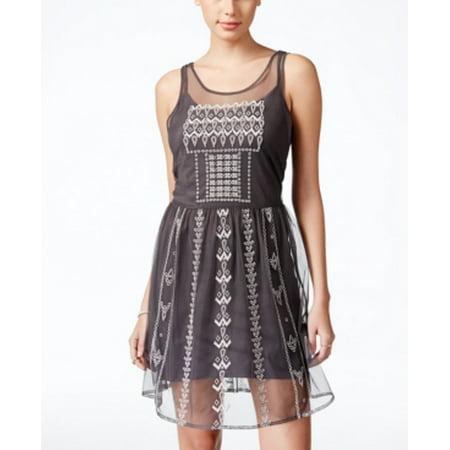 Jessica Simpson Junior'sEmbellished A-Line Dress Size S