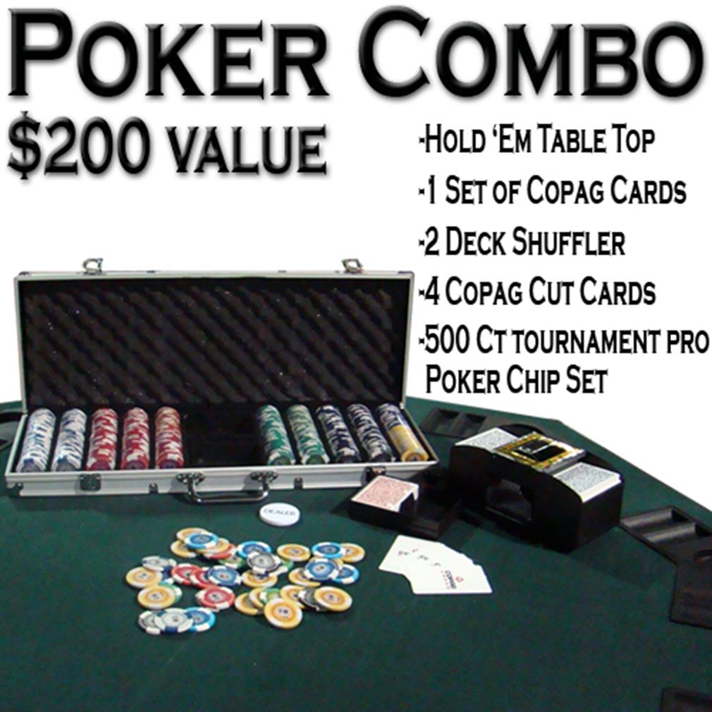 Texas Hold 'Em Poker Combo Pack w  Table Top by BryBelly