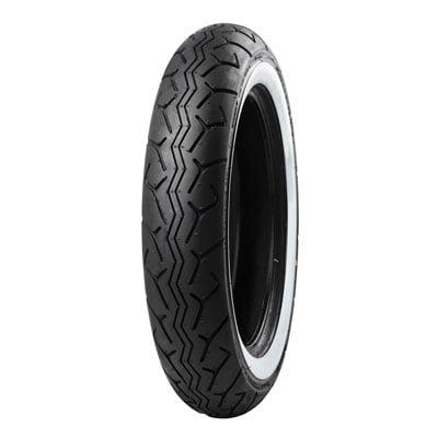 130/90-16 (67H) Tubeless Bridgestone G703 Front Motorcycle Tire Wide White Wall for Suzuki Boulevard C50T VL800T 2011-2018