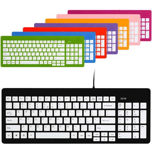 FileMate Imagine Series USB Standard Keyboard, Assorted Colors