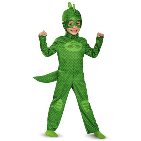 PJ Masks Gekko Classic Costume for Toddler - Green Power Ranger Toddler Costume