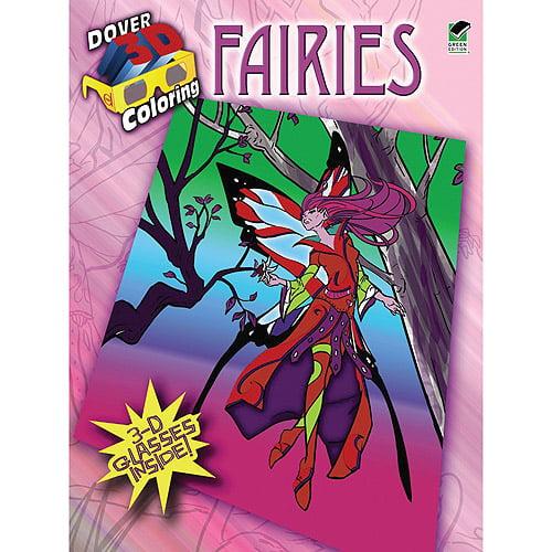 Dover Publications Fairies 3-D Coloring Book