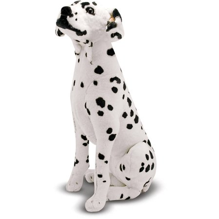 Melissa & Doug Giant Dalmatian, Lifelike Stuffed Animal Dog, over 2' tall